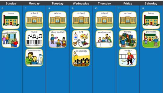 horarios visuales y su uso en autismo